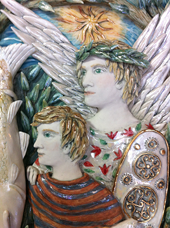 Tobias and the Angel detail